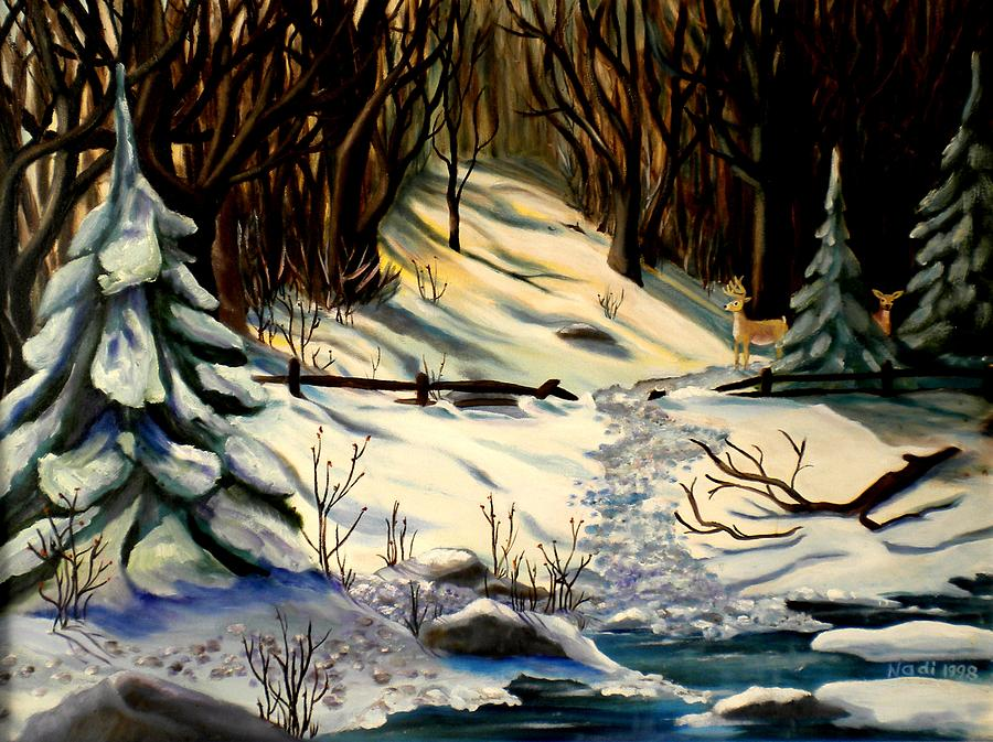 Winter Photograph - The Winter Trail by Renate Nadi Wesley