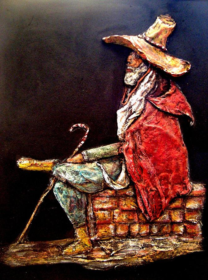 Old Man  Painting - The Wise Old Man by Abbas Djamat