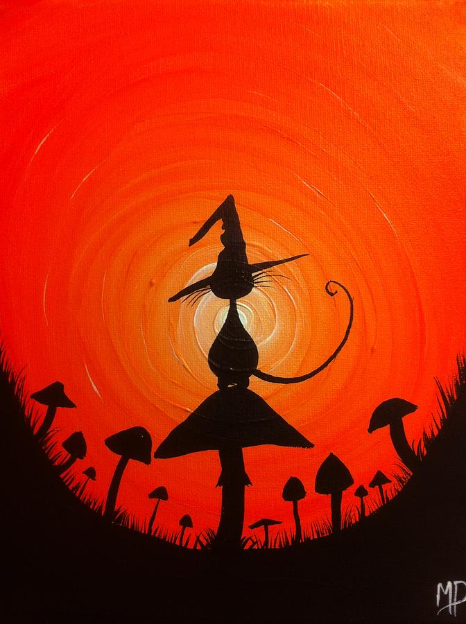 Witch Painting - The Witches Hat by Michael Prosper