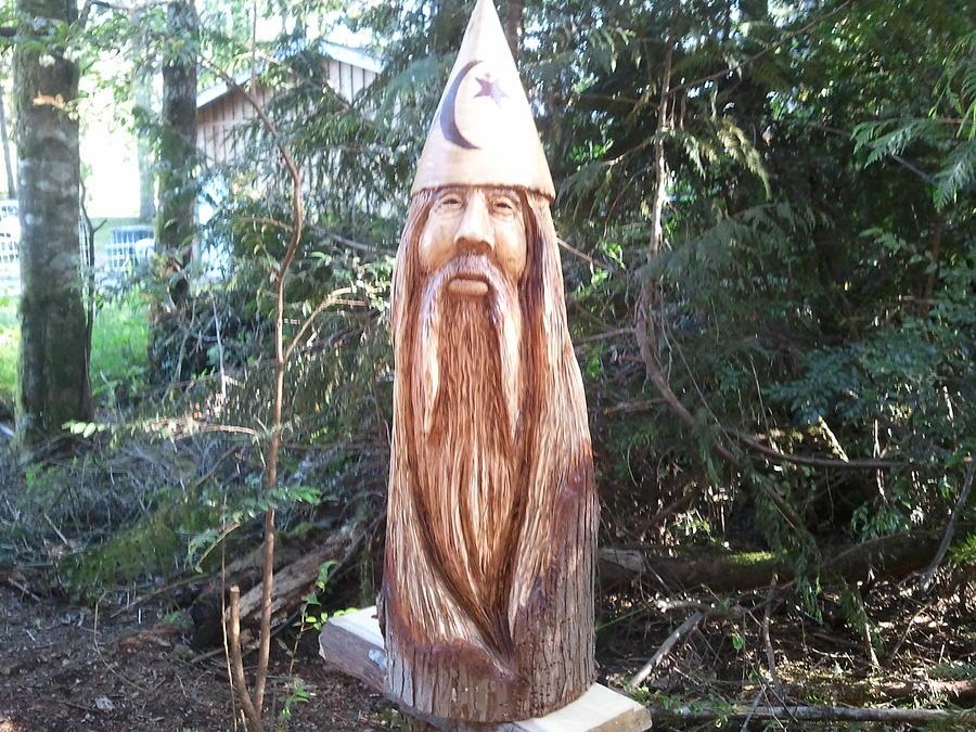 Mystical Sculpture - The Wizard by William Luke