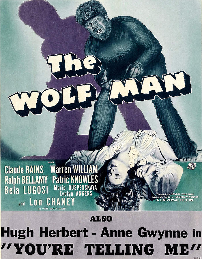 1940s Movies Photograph - The Wolf Man, As The Wolf Man Lon by Everett