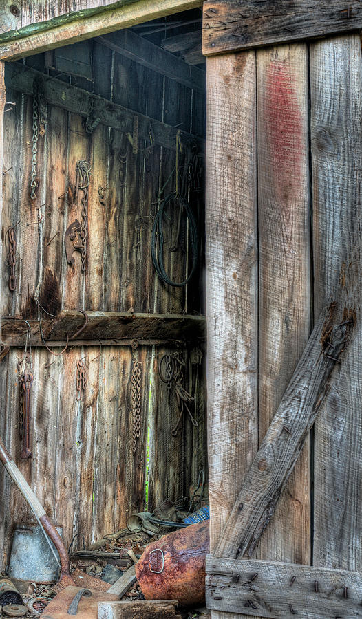 The Wood Shed Photograph - The Wood Shed by JC Findley