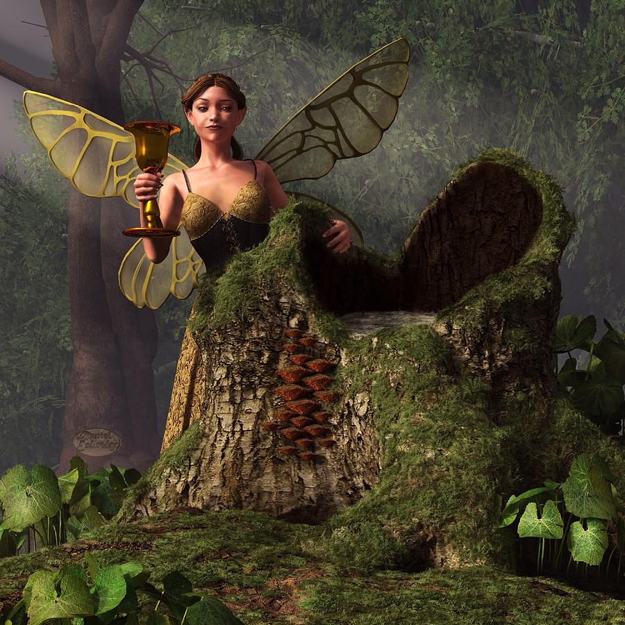 Tree Digital Art - The Wood Sprite by Daniel Eskridge