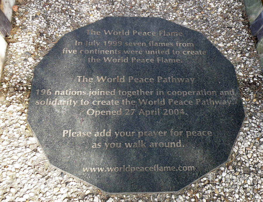 Peace Photograph - The World Peace Flame by Lainie Wrightson