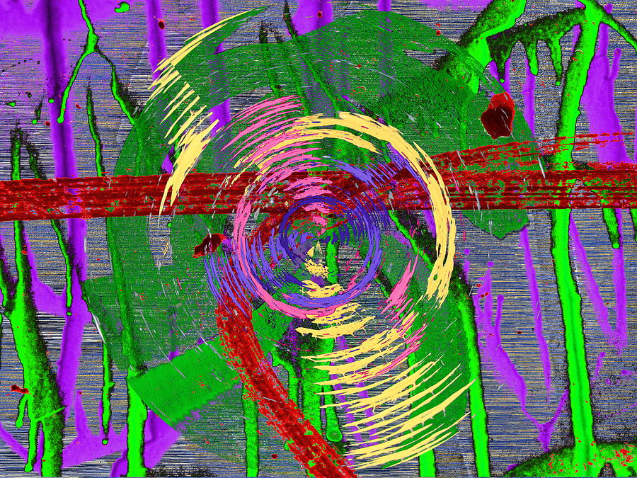 Writing Digital Art - The Writing On The Wall 9 by Tim Allen