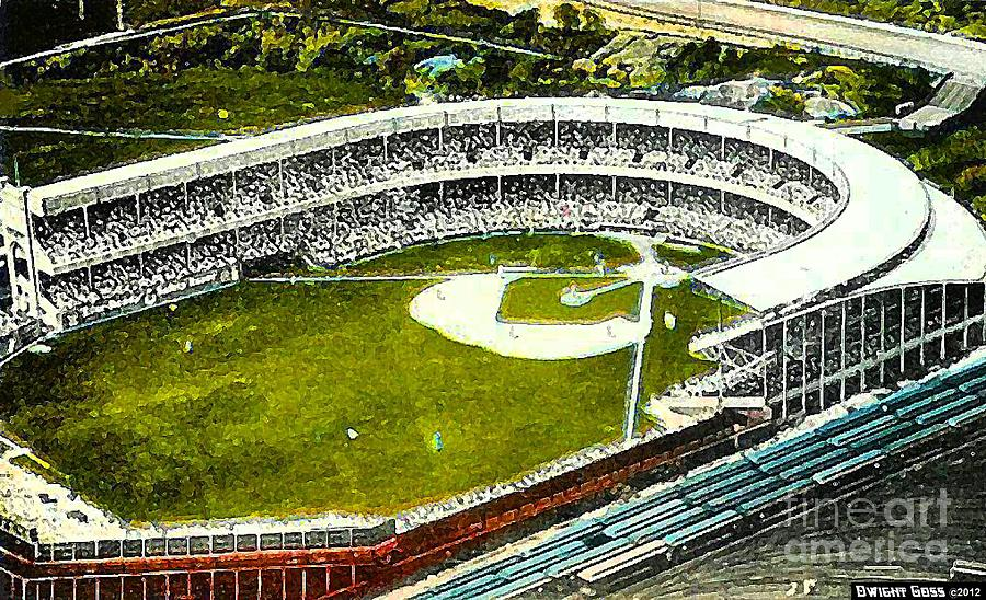Polo Grounds Painting - The Yankees Polo Grounds In New York City In The 1920s by Dwight Goss