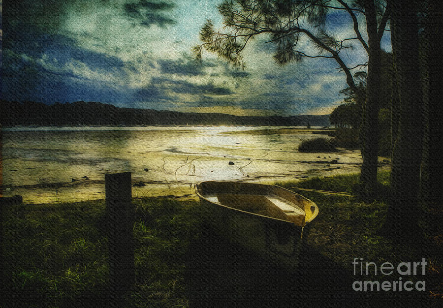 Yellow Boat Photograph - The Yellow Boat by Avalon Fine Art Photography