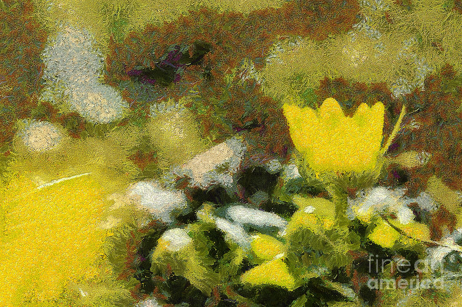 Odon Painting - The Yellow Flower by Odon Czintos