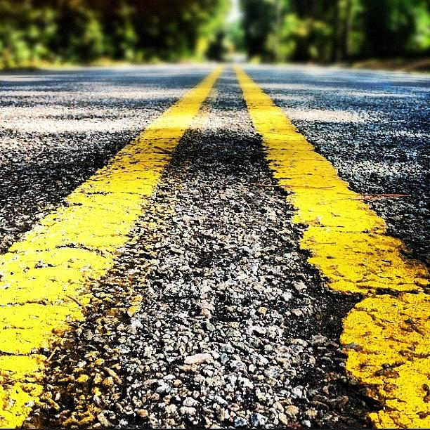 Yellow Photograph - The Yellow Lines by Lea Ward