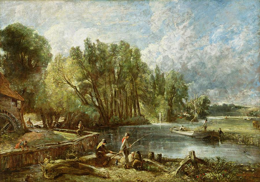 The Painting - The Young Waltonians - Stratford Mill by John Constable