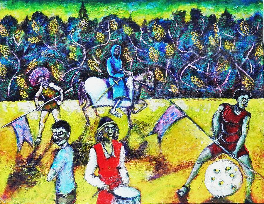 The Zombies Parade Painting