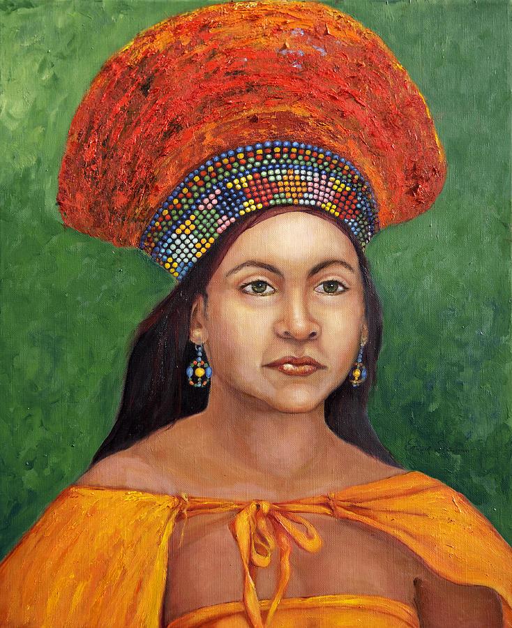 Painting Painting - The Zulu Bride by Enzie Shahmiri