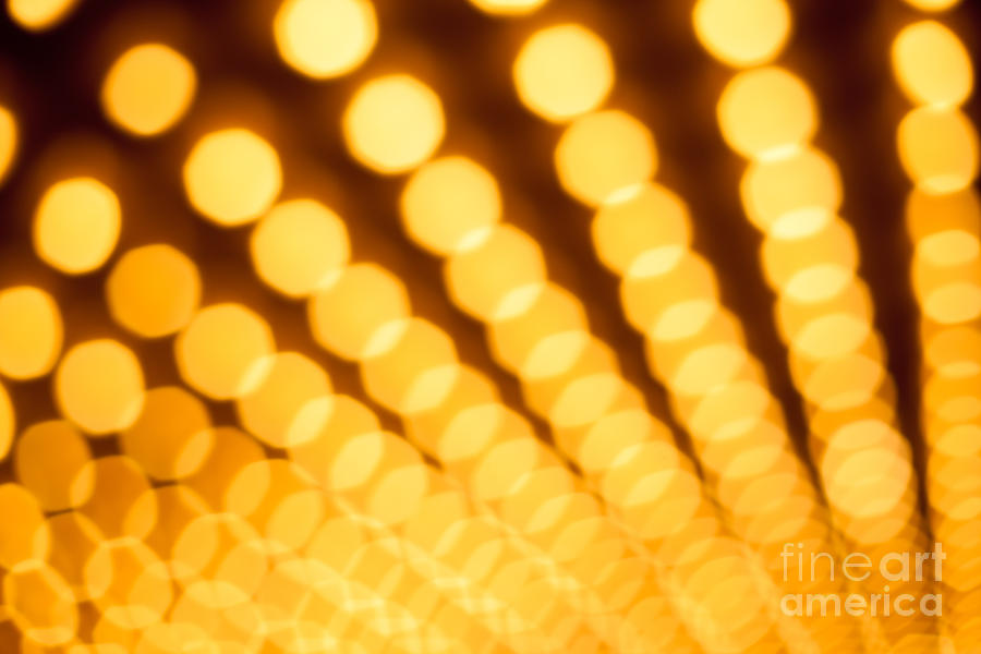 Abstract Photograph - Theater Lights In Rows Defocused by Paul Velgos