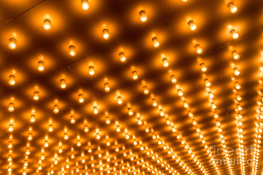 theater marquee lights in rows photograph by paul velgos