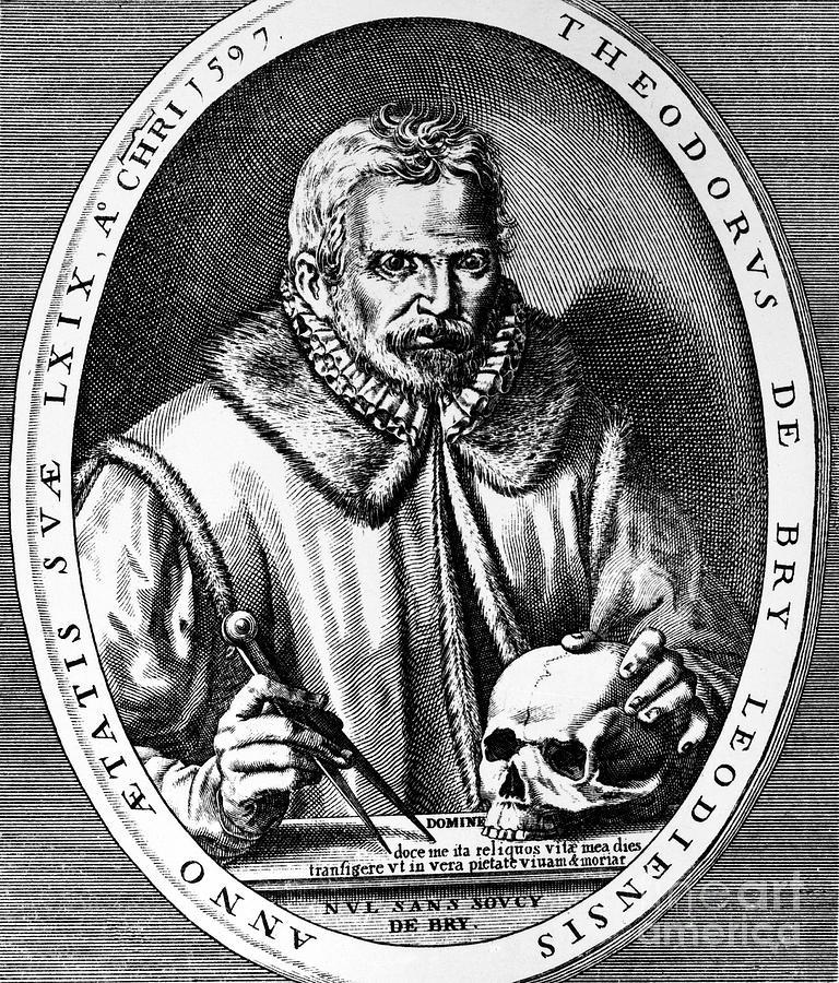 1597 Photograph - Theodor De Bry (1528-1598) by Granger