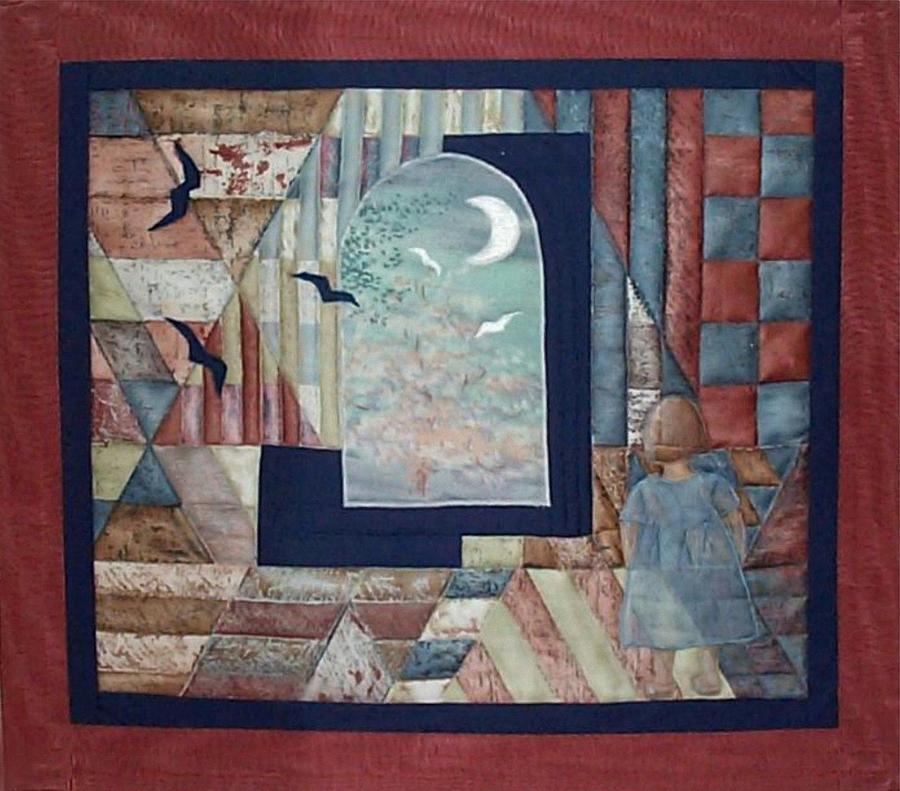 Collage Tapestry - Textile - There Is A Place... by Gun Legler