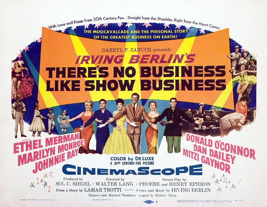 1954 Movies Photograph - Theres No Business Like Show Business by Everett