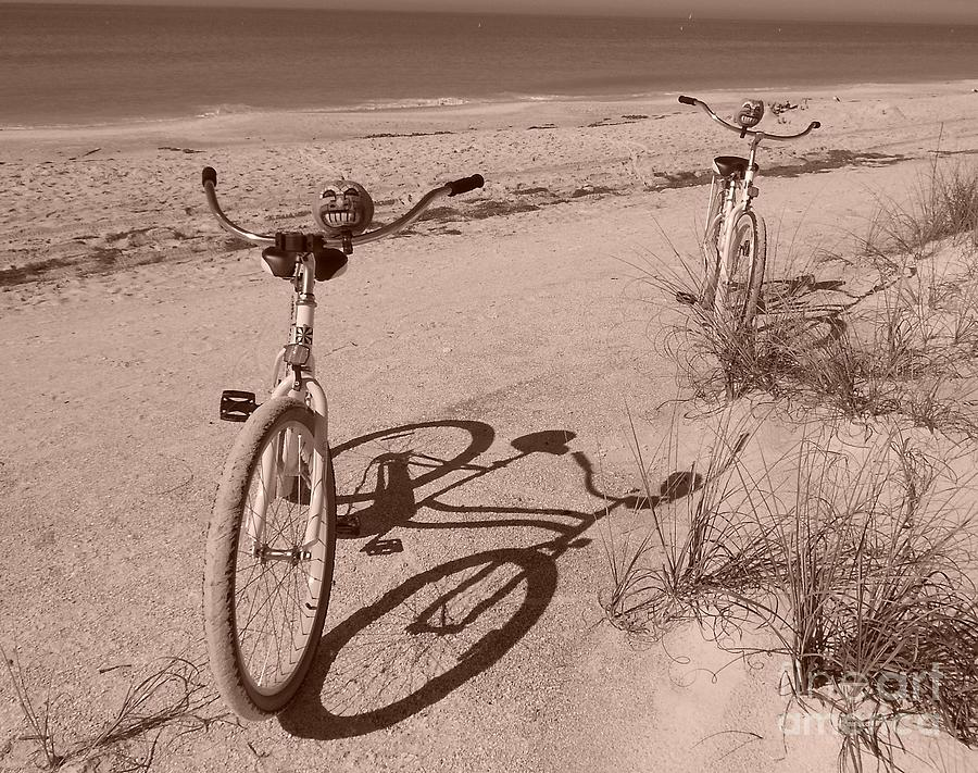 Bikes Painting - They Were Carefree by Marie Bulger