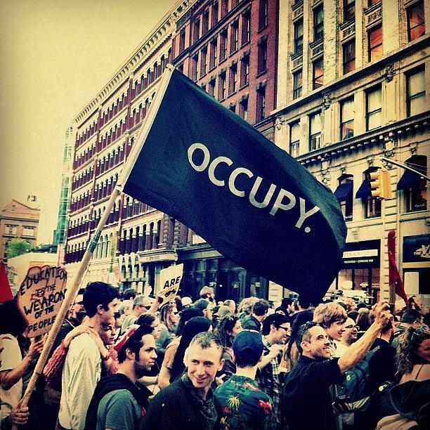 Nyc Photograph - Theyre Back. #occupy #ows #nyc by Luke Kingma