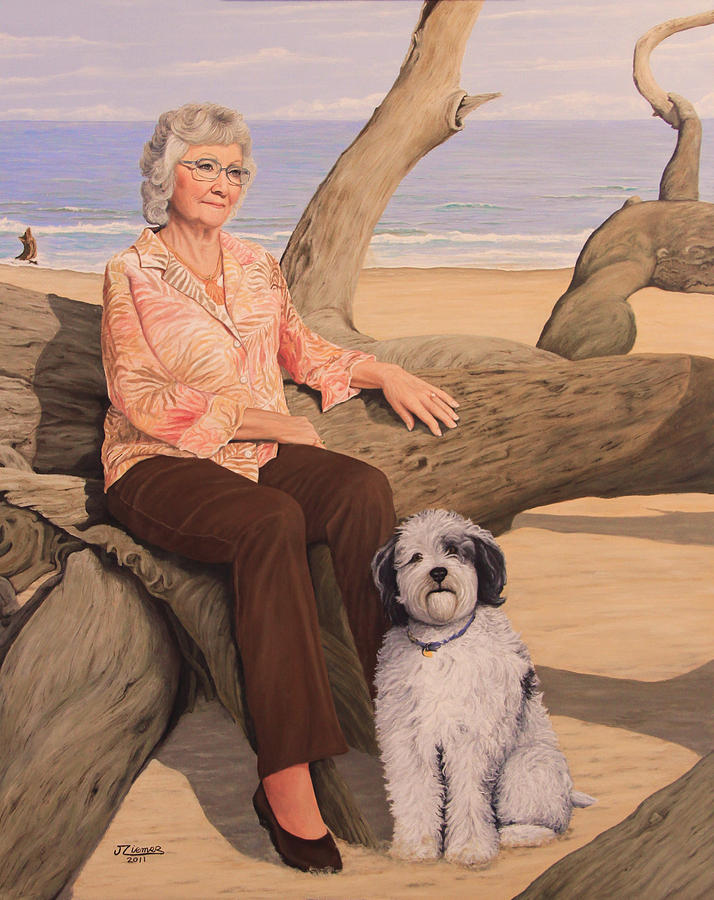 Portrait Painting - Things I Love by Jim Ziemer