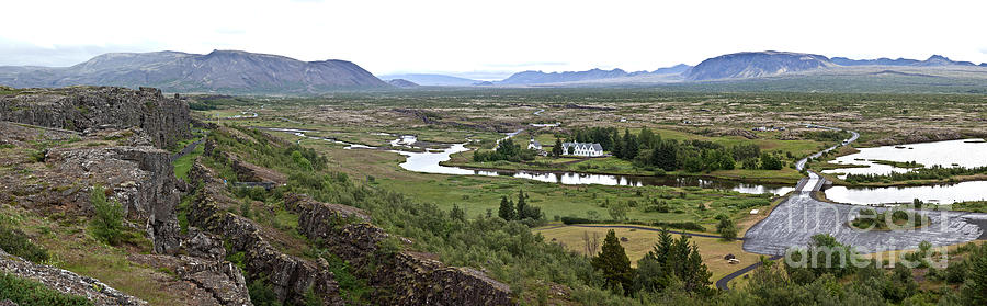 Iceland Photograph - Thingvellir Valley by Greg Dimijian