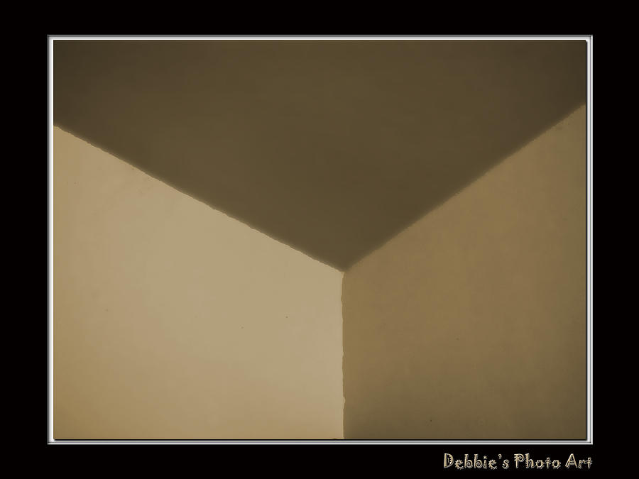 Box Photograph - Think Outside Or Inside The Box    Optical Illusion by Debbie Portwood