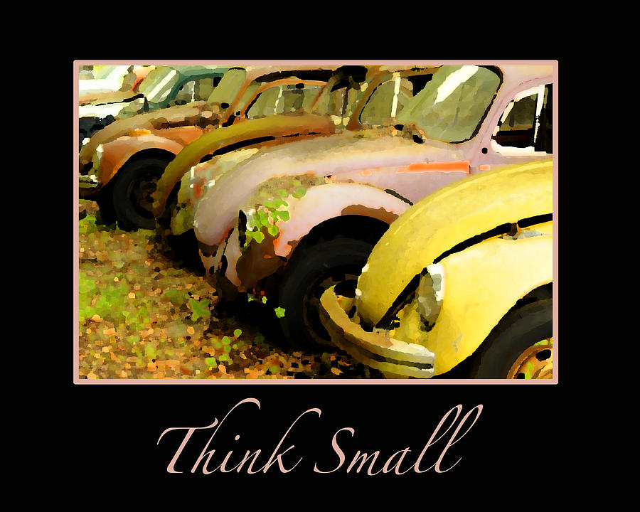 Vw Photograph - Think Small by Nancy Greenland