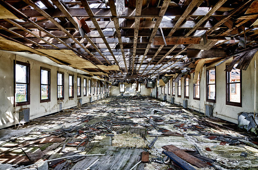 Third floor crumbling building mare island photograph by for 100 floors 28th floor