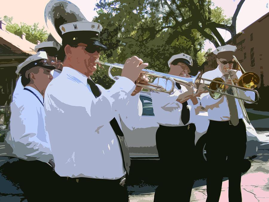 New Orleans Digital Art - Third Line Brass Band by Renee Barnes