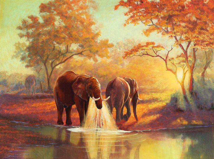 Painted Elephant Art