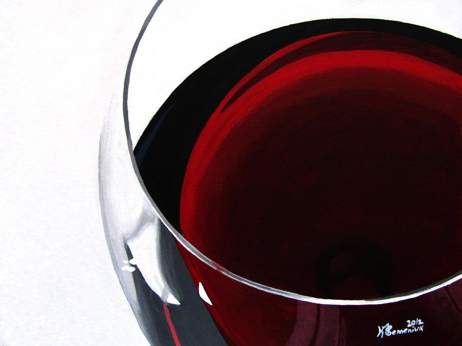 Wine Painting - Thirsty? by Kayleigh Semeniuk