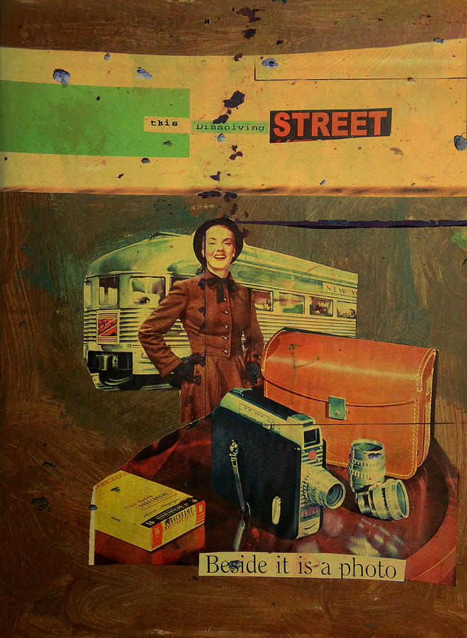 Lady Mixed Media - This Dissolving Street by Adam Kissel