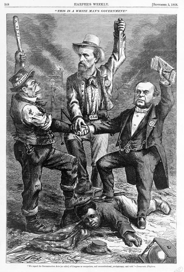 1860s Photograph - This Is A White Mans Government. An by Everett