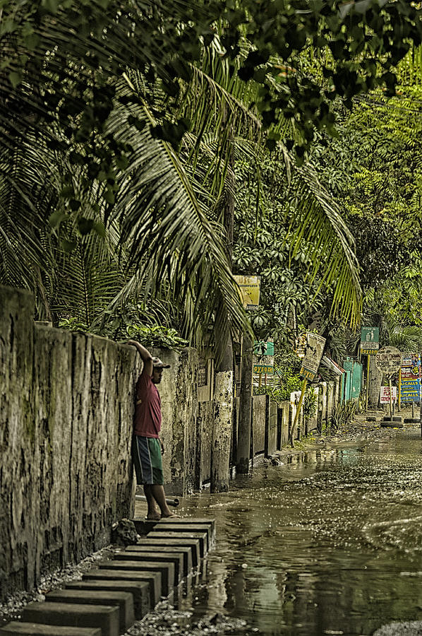 Cebu Photograph - This Is The Philippines No.57 - Guess Im Gonna Get Wet Feet by Paul W Sharpe Aka Wizard of Wonders