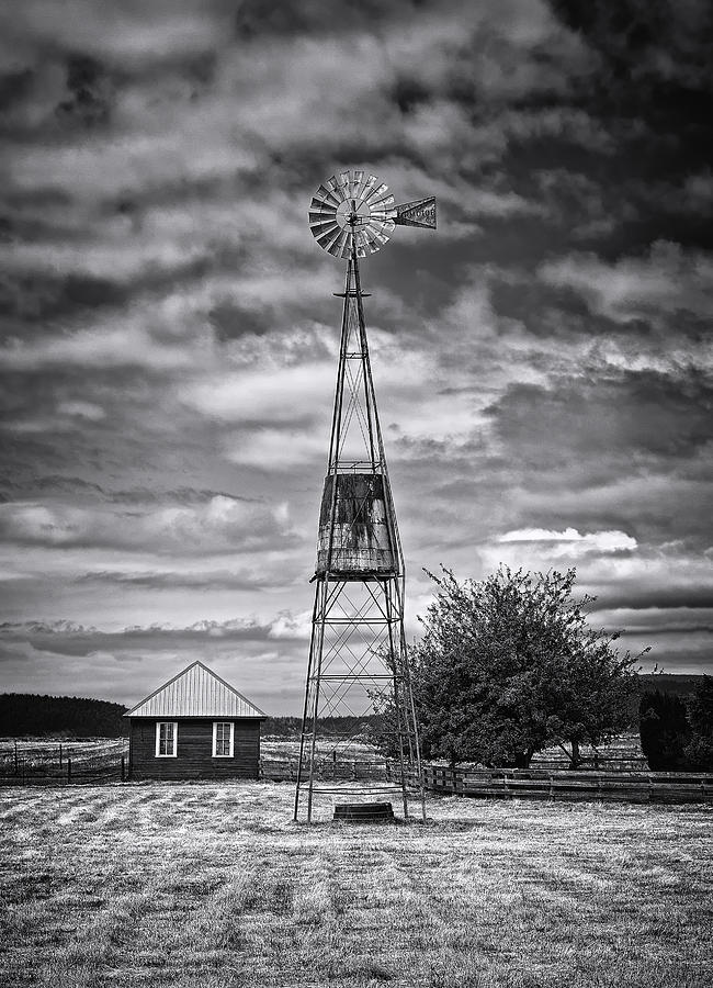 American Style Photograph - This Is Washington State No. 12 - The American Windmill by Paul W Sharpe Aka Wizard of Wonders