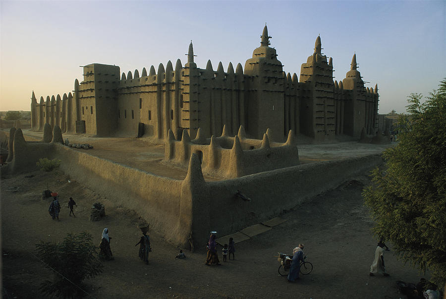 Color Image Photograph - This Islamic Mosque Was Built Of Mud by James L. Stanfield