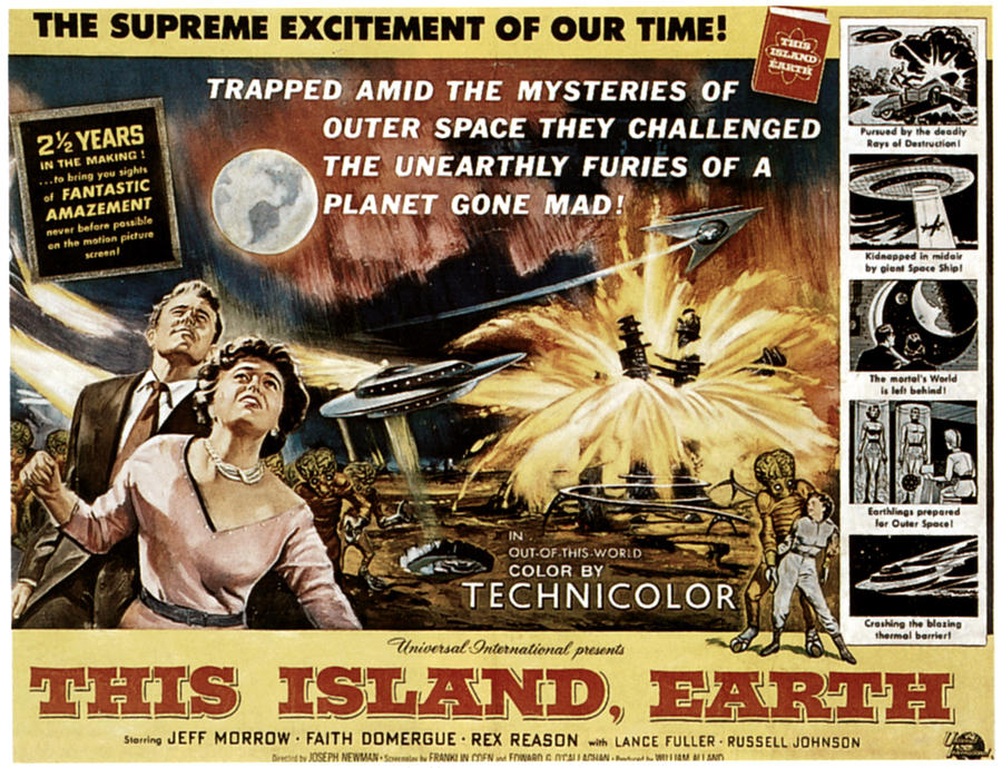 1955 Movies Photograph - This Island, Earth, From Left Rex by Everett