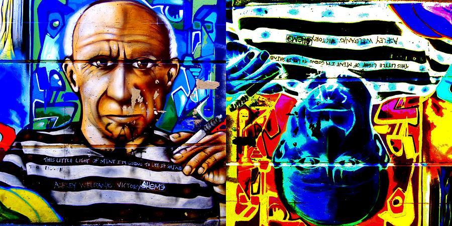 Street Art Digital Art - This Little Light Of Mine Times Two by Randall Weidner