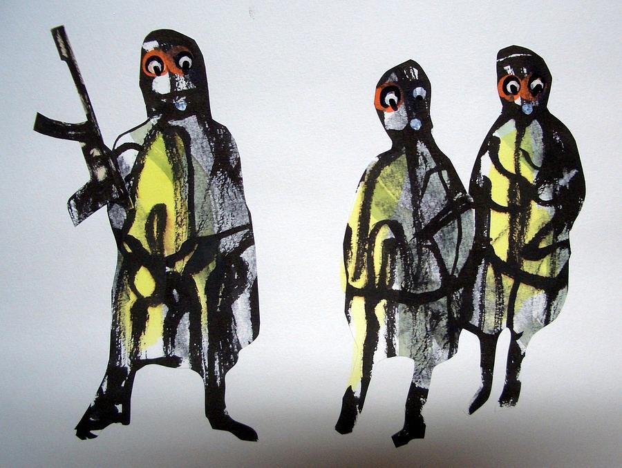Harie Drawing - This Masquerade by Aquira Kusume