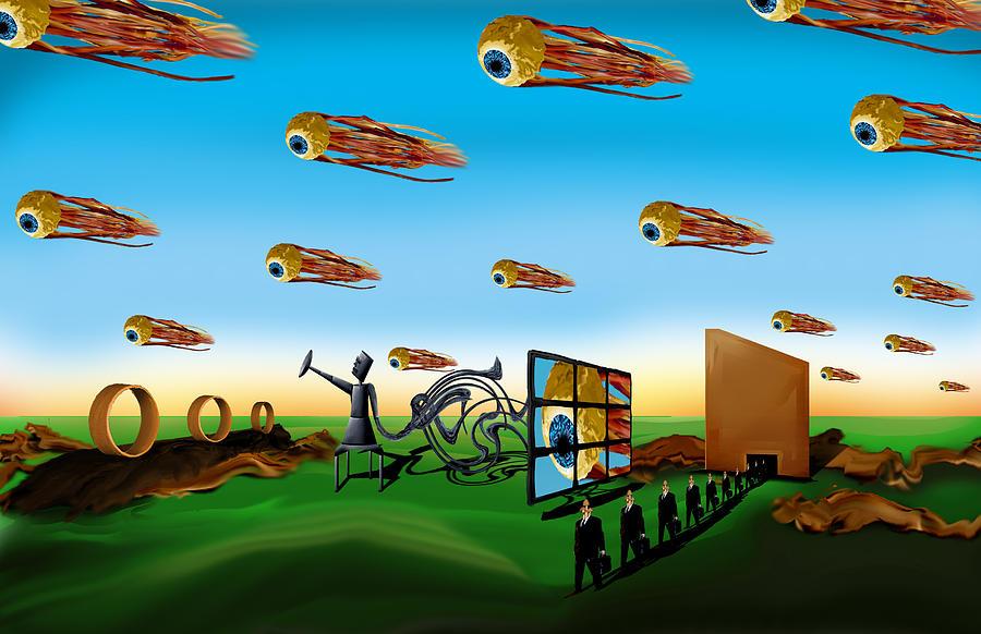 Surreal Digital Art - This Modern World by AW Sprague II