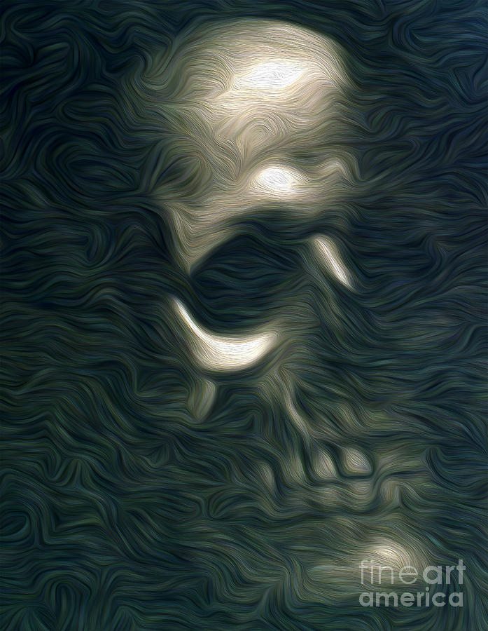 Skull Painting - This Mortal Coil by Gregory Dyer