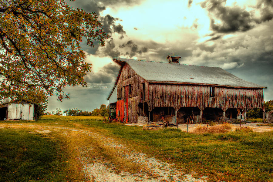 Barn Photograph - This Old Barn by Bill Tiepelman