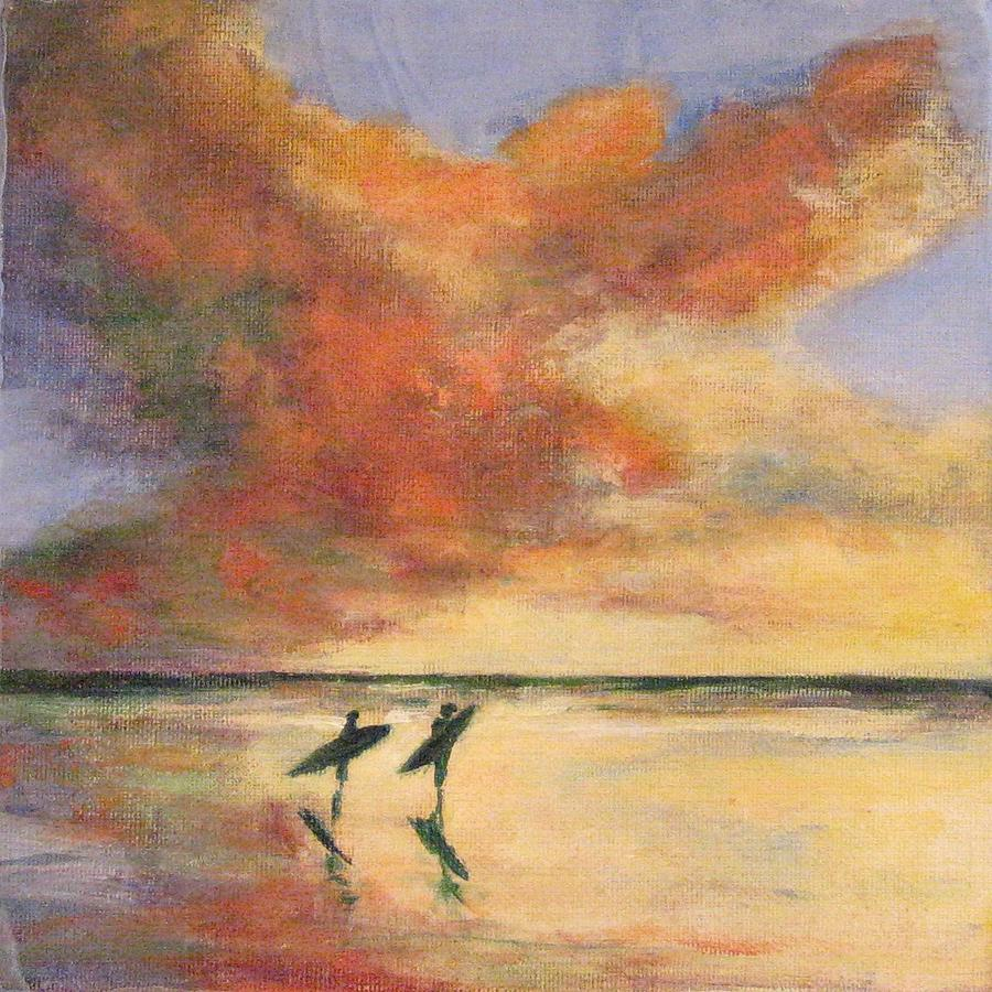 Beach Painting - This Side of Paradise 5 by Cecelia Campbell