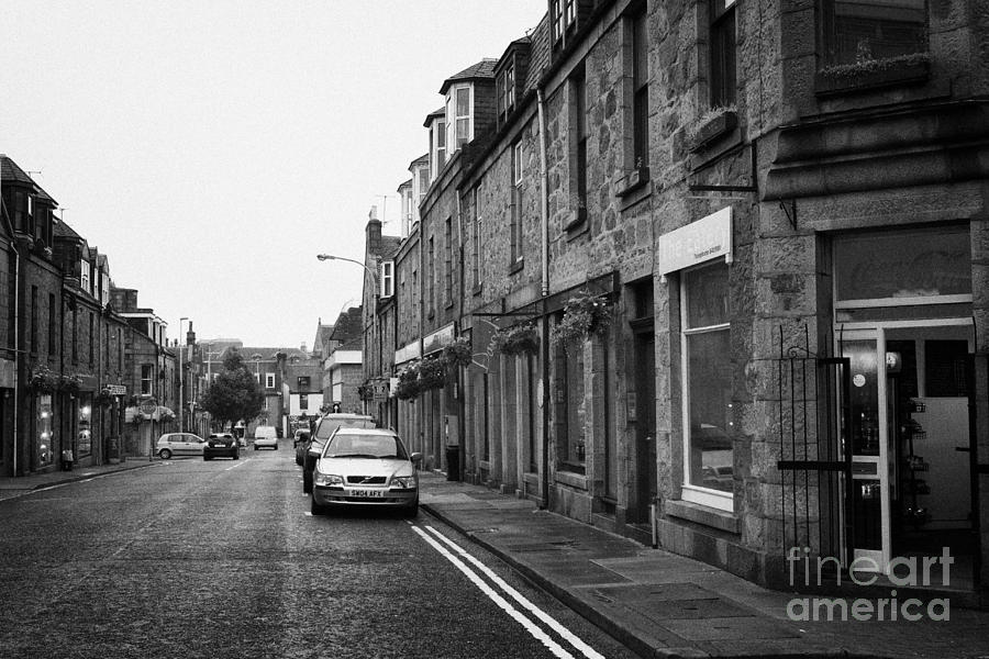 Thistle Photograph - Thistle Street Rows Of Granite Houses And Shops Aberdeen Scotland Uk by Joe Fox