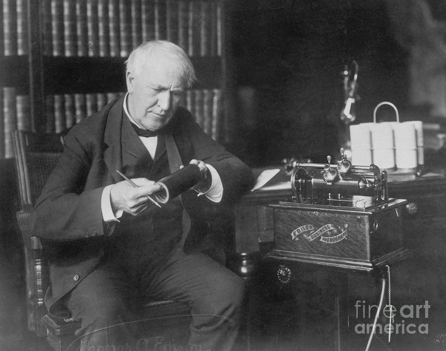 History Photograph - Thomas Edison, American Inventor by Omikron