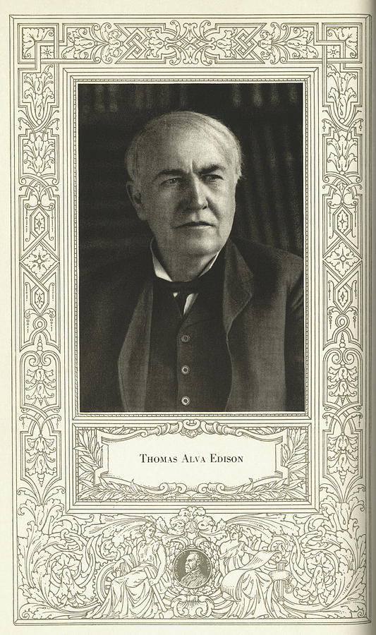 Edison Photograph - Thomas Edison, American Inventor by Science, Industry & Business Librarynew York Public Library