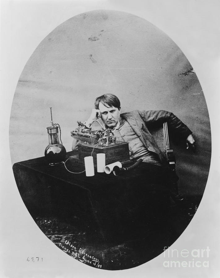 History Photograph - Thomas Edison, American Inventor by U.S. Department of the Interior