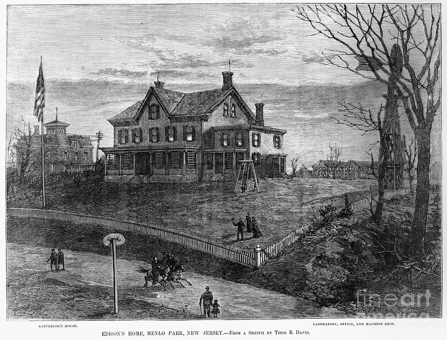 1880 Photograph - Thomas Edison Residence by Granger