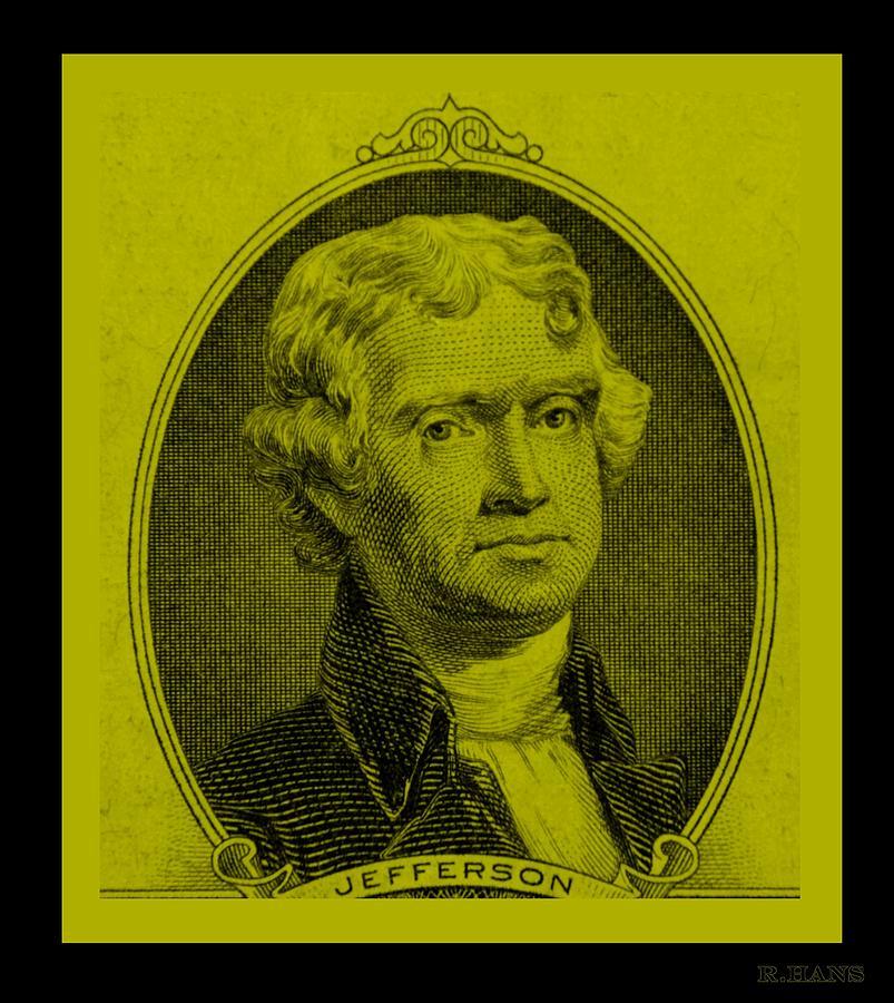 Thomas Jefferson Photograph - Thomas Jefferson In Yellow by Rob Hans