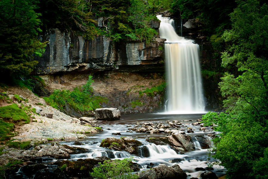 Ingleton Falls Photograph - Thornton Force Waterfall 2 by Andy Comber